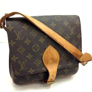 Auth Louis Vuitton Cartouchiere Mm Bg #1007L17